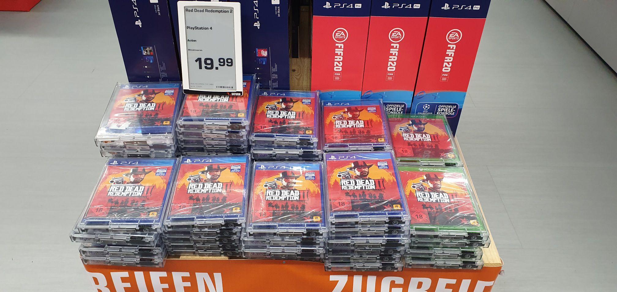 Red Dead Redemption 2 ps4 und xbox one im Saturn HBF Leipzig