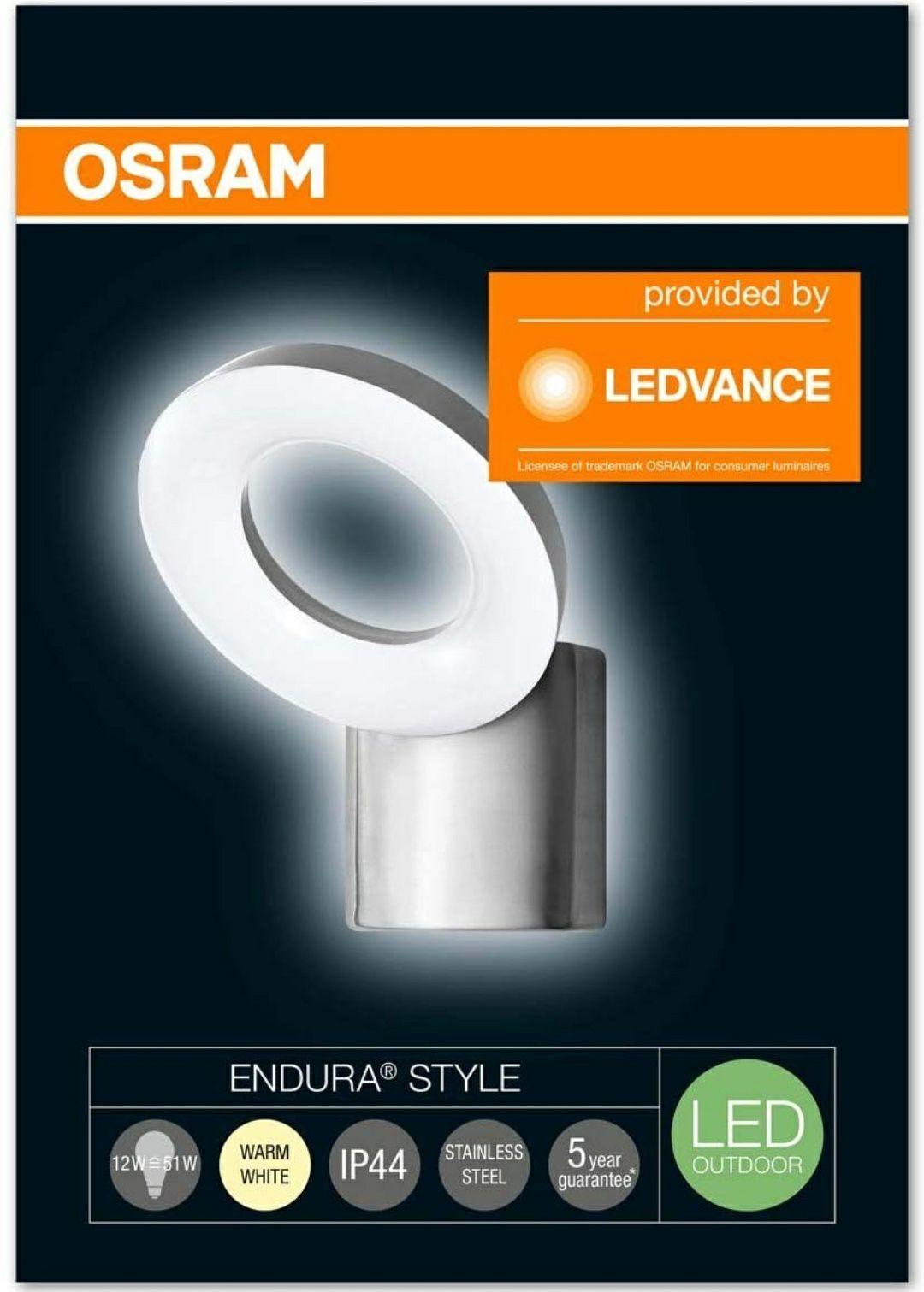 Osram LED Wand- und Deckenleuchte, Leuchte für Außenanwendungen, Warmweiß, Endura Style WallLoop