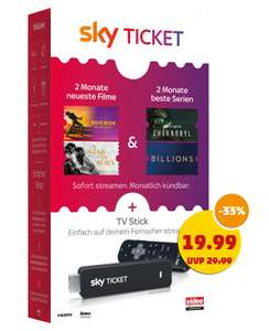 Penny & Ebay Saturn SkyTicket TV Stick plus 2 Monate Entertaiment / Cinema u.a.