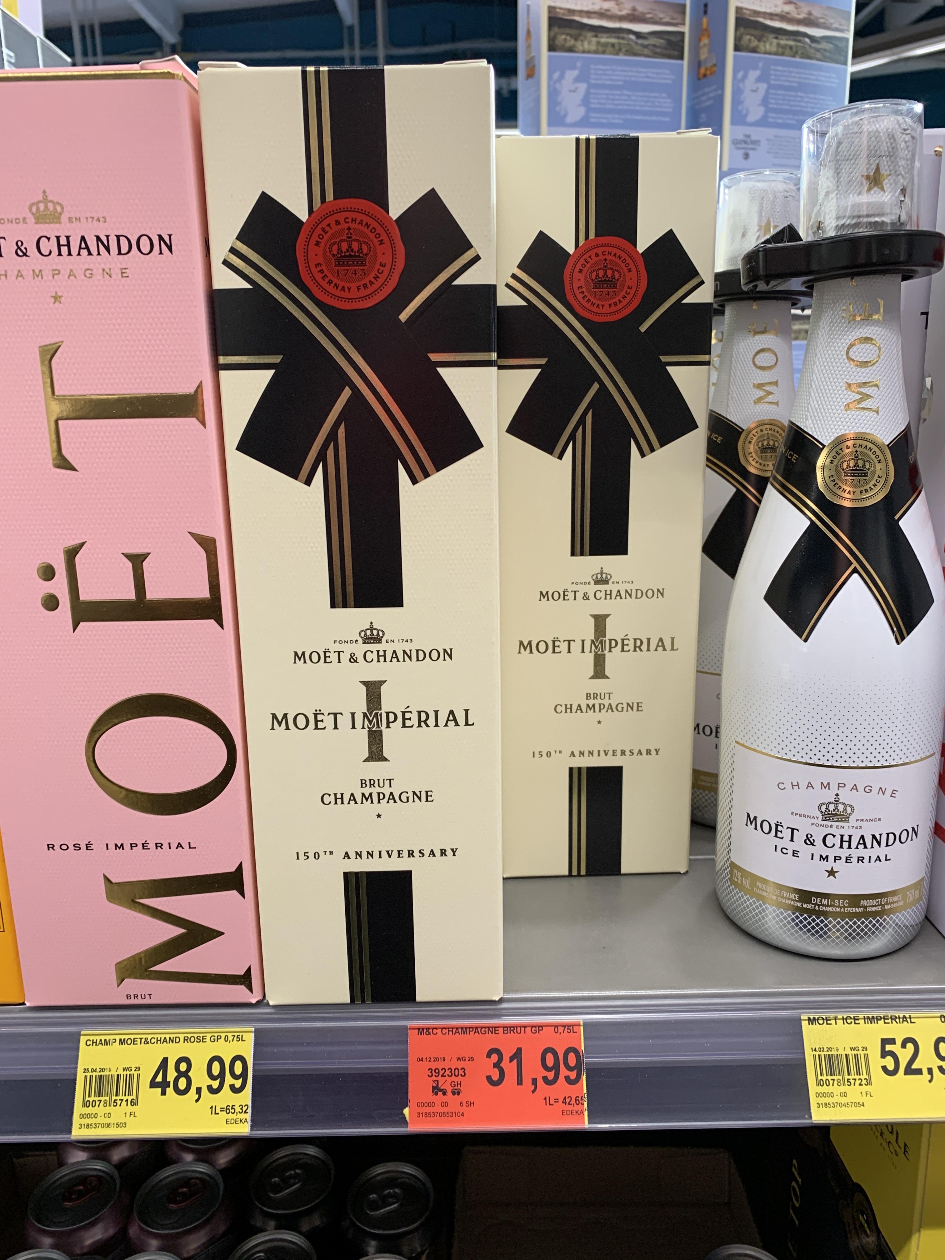 Moët & Chandon Champagner 0,75L 31,99 Euro Trinkgut Düsseldorf