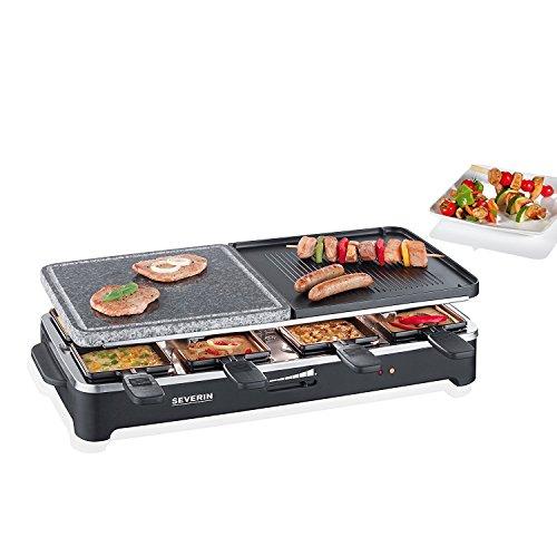 SEVERIN RG 2341 Raclette-Partygrill mit 8 Pfännchen