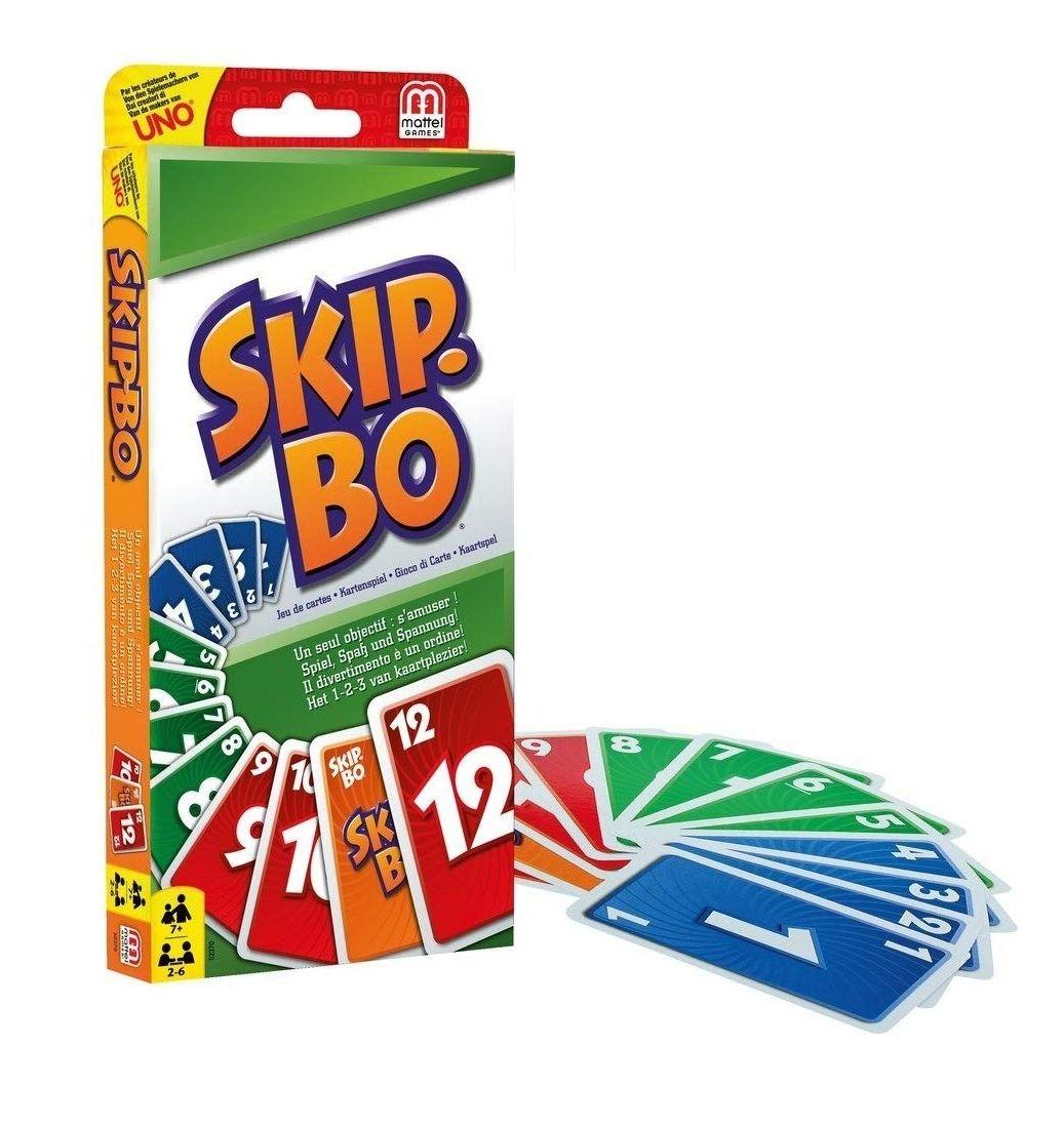 [Amazon Prime] Mattel Games Skip-Bo, für die ganze Familie, 2-6 Spieler, Spieldauer ca. 20 Minuten, ab 7 Jahren
