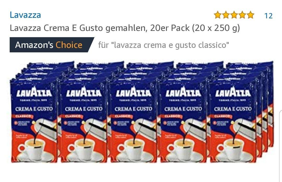 Lavazza Espresso 20x 250g Crema e gusta