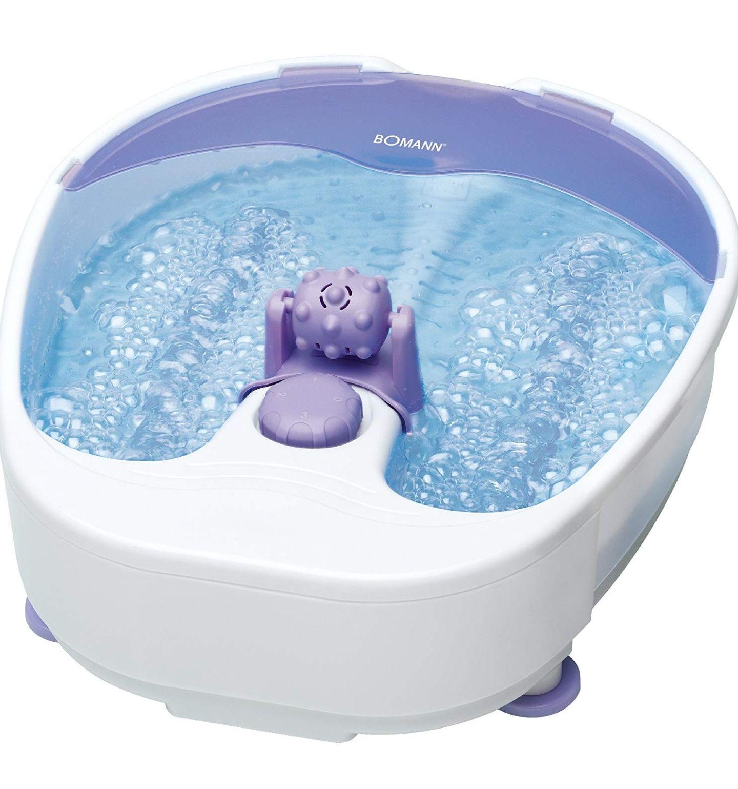 Sprudelndes Fußbad mit Spritzschutz Bomann FM 8000 CB Fuß- Massagegerät