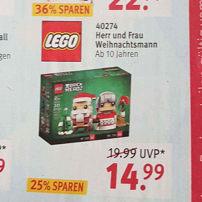 LEGO 40274 Herr und Frau Weihnachtsmann bei Rossmann