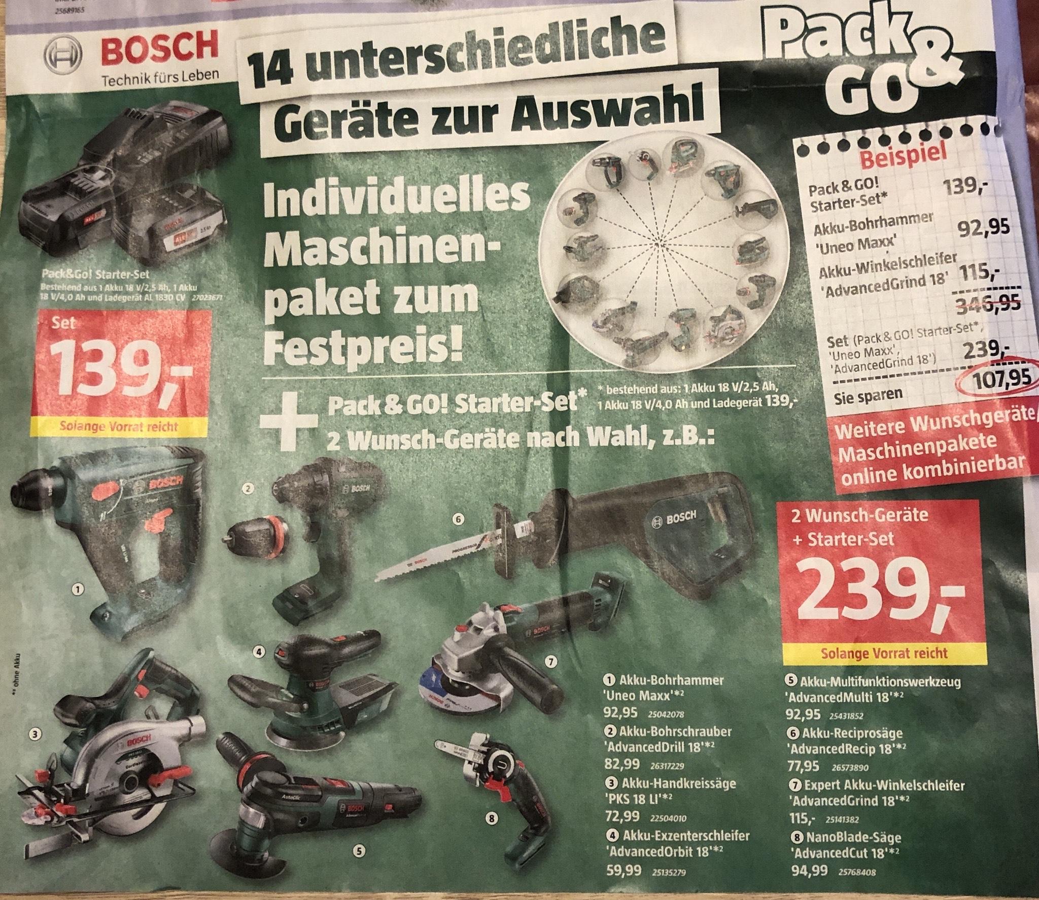 Bauhaus Bosch Pack & Go Aktion
