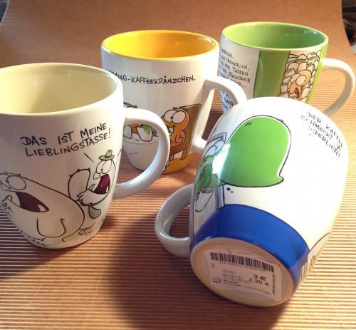 (Lokal) Verscheidene nichtlustig Tassen für je 3 € bei tedi