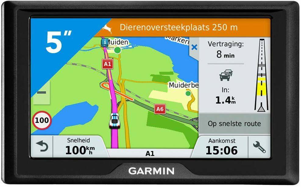 "Garmin Drive 5 MT-S EU Navigationsgerät 5"" - 46 Länder, lebenslang Kartenupdates, Stauwarnung (Amazon.es)"