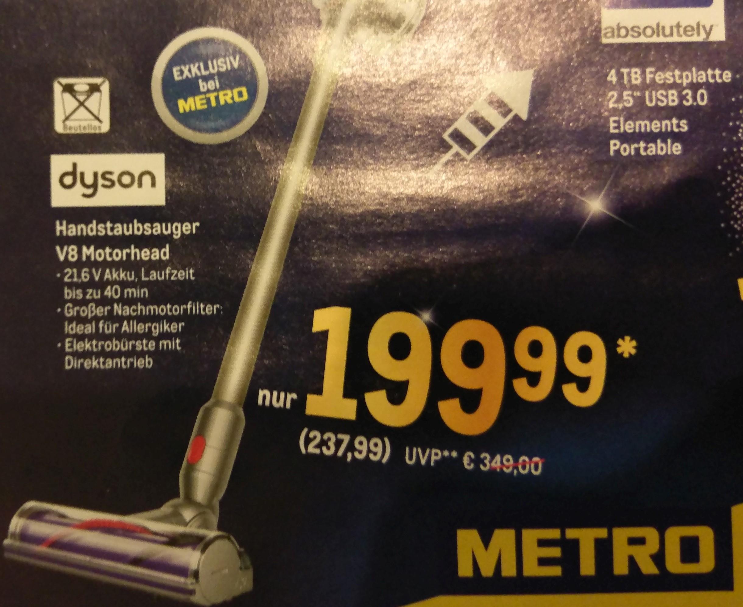 [Metro] Dyson V8 Motorhead 27.12. - 31.12.2019