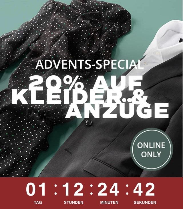 Peek&Cloppenburg P&C - 20% auf Kleider und Anzüge