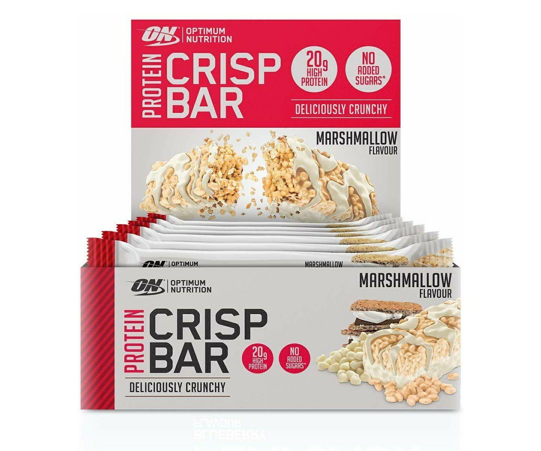 Optimum Nutrition Protein Crisp Bar Marshmallow 10 x 65g Weitere Sorten ebenfalls günstiger