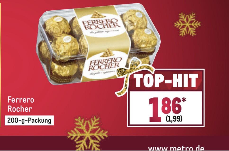 Metro Ferrero Rocher 200g für 1,99€