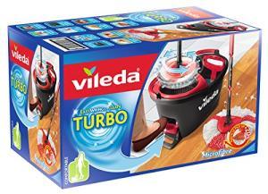 Vileda Turbo EasyWring & Clean Komplett-Set, Wischmop & Eimer mit PowerSchleuder für 19,99€ (Müller)