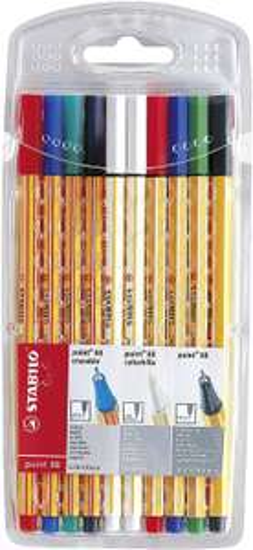 STABILO point 88 colorkilla/erasable Fineliner mit löschbarer Tinte & Tintenkiller 10er Pack für 3,99€ (Müller)