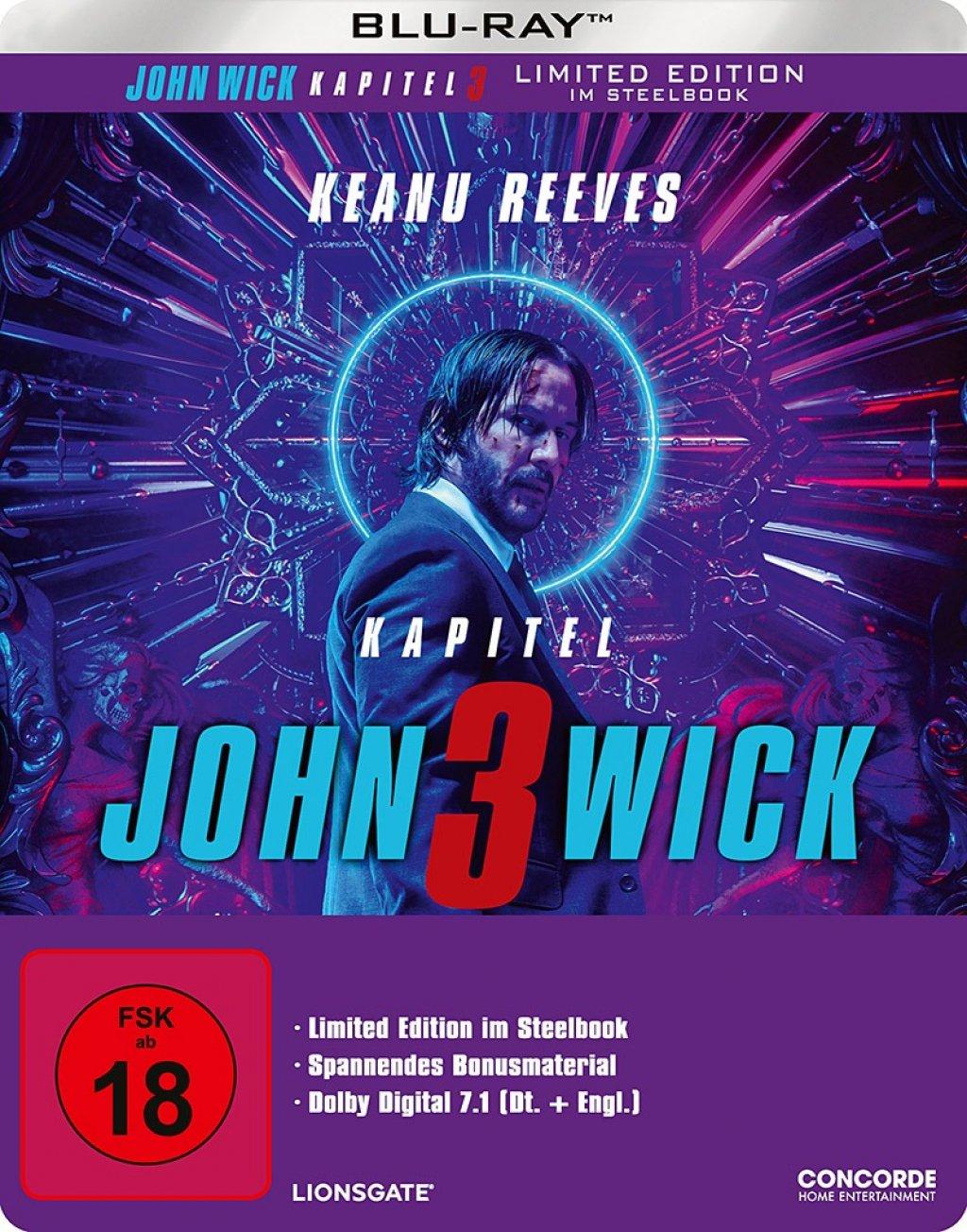 John Wick: Kapitel 3 Limited Steelbook (Blu-ray) für 11,99€ & 4K UHD + Blu-ray für 19,99€ (Amazon & Saturn & Media Markt)