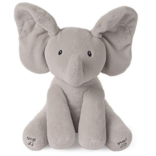 """Gund Interaktiver Elefant """"Flappy"""" (30 cm, Mit Bewegungsfunktion, Sprache und Musik, Version mit deutscher Sprache) [Amazon-Prime]"""