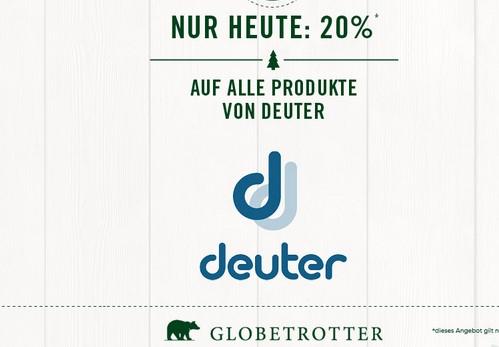 Globetrotter: Heute 20% auf alle Deuter-Produkte im Adventskalender