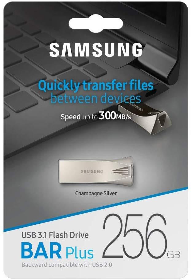 SAMSUNG Flash Drive BAR Plus USB 3.1 Silver, 256GB für 39€ inkl. Versandkosten