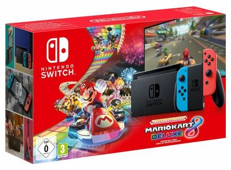 NINTENDO Switch (Grau & Blau Rot) Mario Kart 8 Deluxe Bundle [Expert]