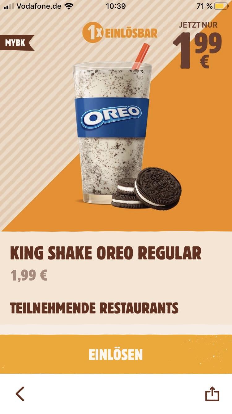 King Shake Oreo bei BurgerKing