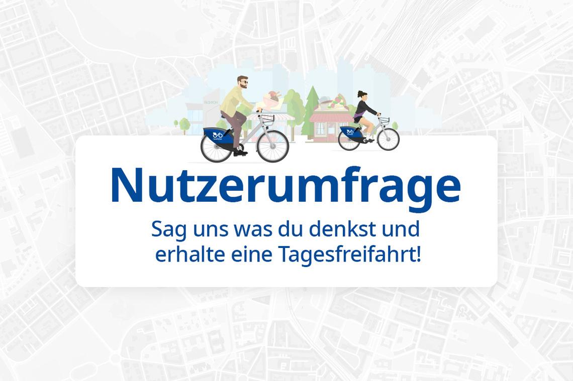 Für eine Nutzerumfrage einen Tag gratis Fahrrad leihe