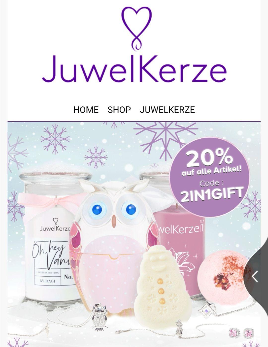 20% Rabatt bei Juwelkerze