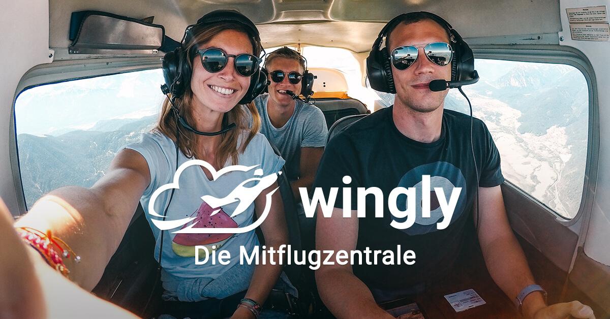 Wingly-bei Privatpiloten mitfliegen