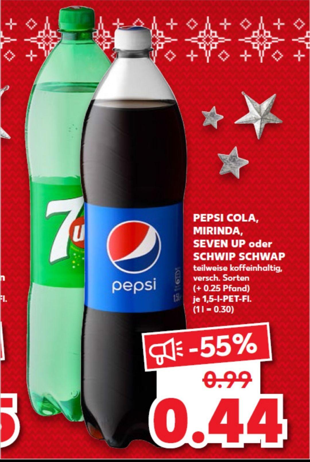 15 Liter Pepsi, Schwip Schwap und Co. Für effektiv 3,40€ dank Scondoo