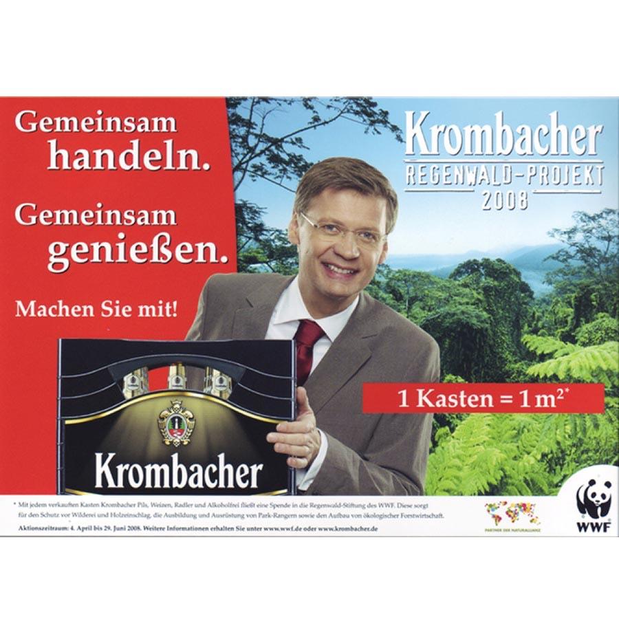 Rette den Regenwald: Trinke mehr Krombacher Pils 24 x 0,33l