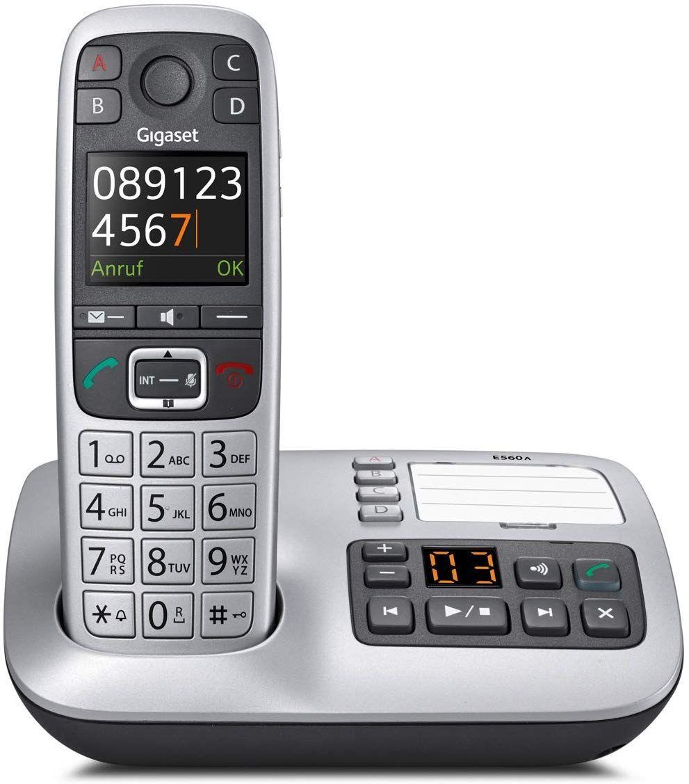 Gigaset E560A Schnurloses DECT-Telefon (mit Anrufbeantworter)