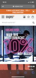 SNIPES X-Mas Late Night Deal -10% auf ALLES!