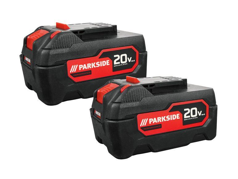 2 x PARKSIDE PERFORMANCE Akku-Pack 5 Ah PAPP 20 B2