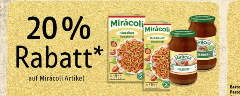 Rewe Prospekt 20% auf Miracoli Produkte