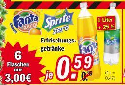 Fanta und Sprite Zero bei Zimmermann 1L / 0,47€