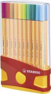 Fineliner STABILO point 88 ColorParade - 20er Klappbox mit 20 verschiedenen Farben für 8,99€ (Müller)