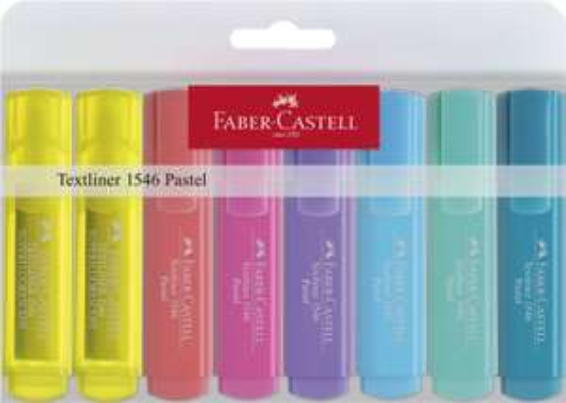 Faber-Castell - Textmarker pastell, 8er Etui für 2,99€ (Müller)