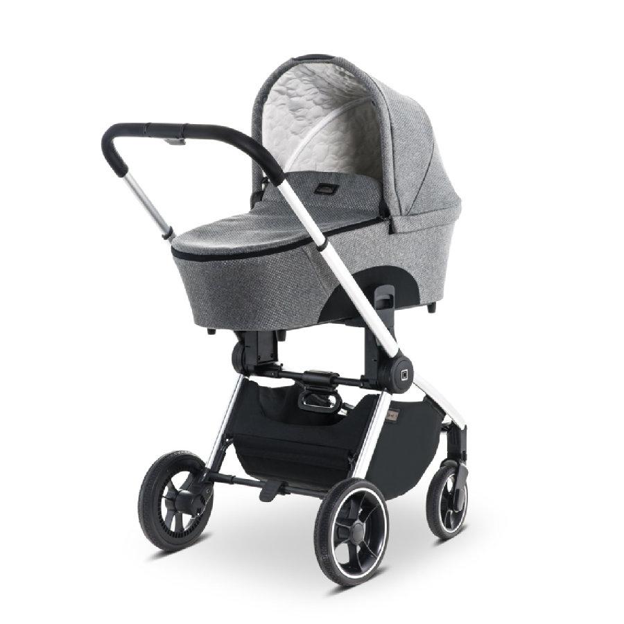 [Babymarkt] MOON Kombikinderwagen Resea Silver/Black Panama