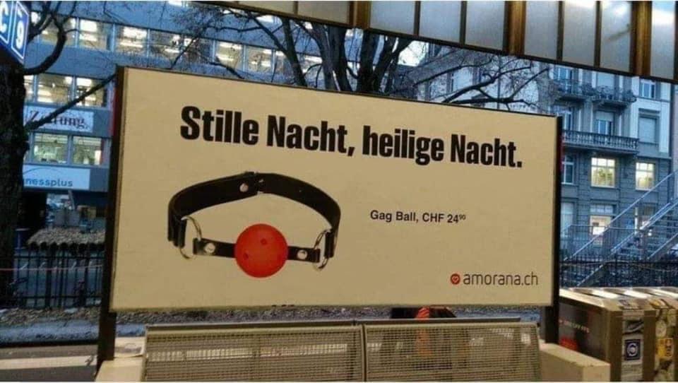(Schweiz) Gag Ball - für stille Weihnachten