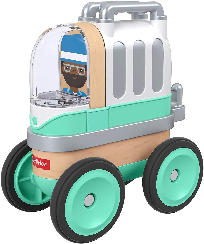 [Amazon Prime] Fisher-Price GFJ21 - Wunder Werker Holzspielzeug Camper Spielzeugauto aus FSC zertifiziertem Holz, ab 3 Jahren (Plus Produkt)