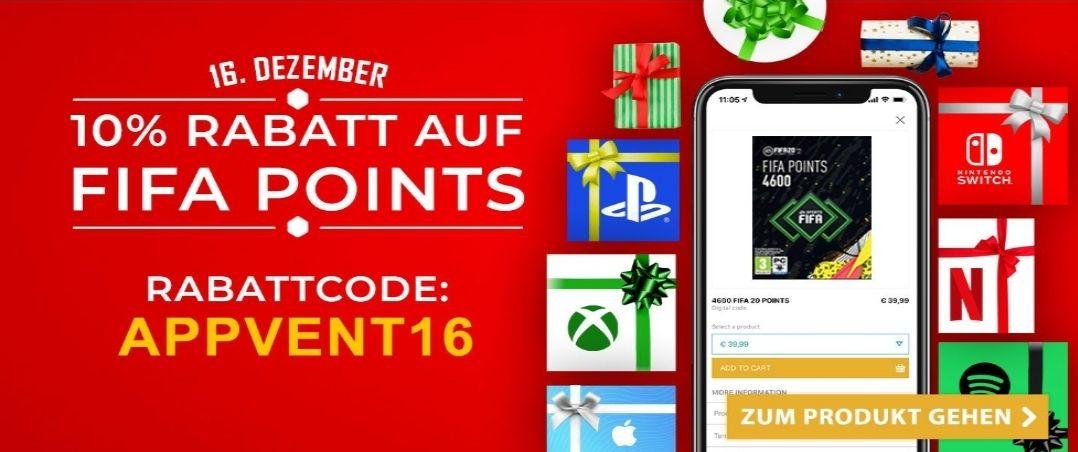 FIFA POINTS 10% Rabatt in der Startselect App (PS4&XB1)