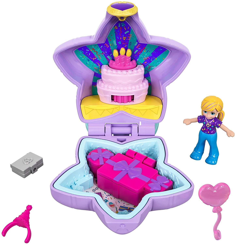 [Amazon Prime] Polly Pocket GFM53 - Mini-Schatulle Polly Birthday, Puppen Spielzeug, ab 4 Jahren (Plus Produkt)