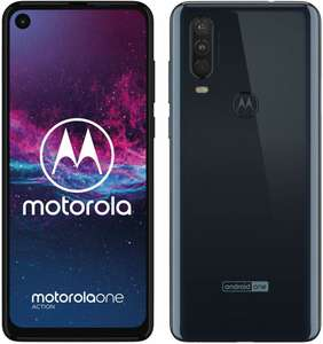 Motorola One Action LTE Dual-SIM Smartphone 4/128 GB (6,3 Zoll Full HD IPS, 12 Megapixel Triple Kamera, 3.500 mAh) Grau oder Weiß