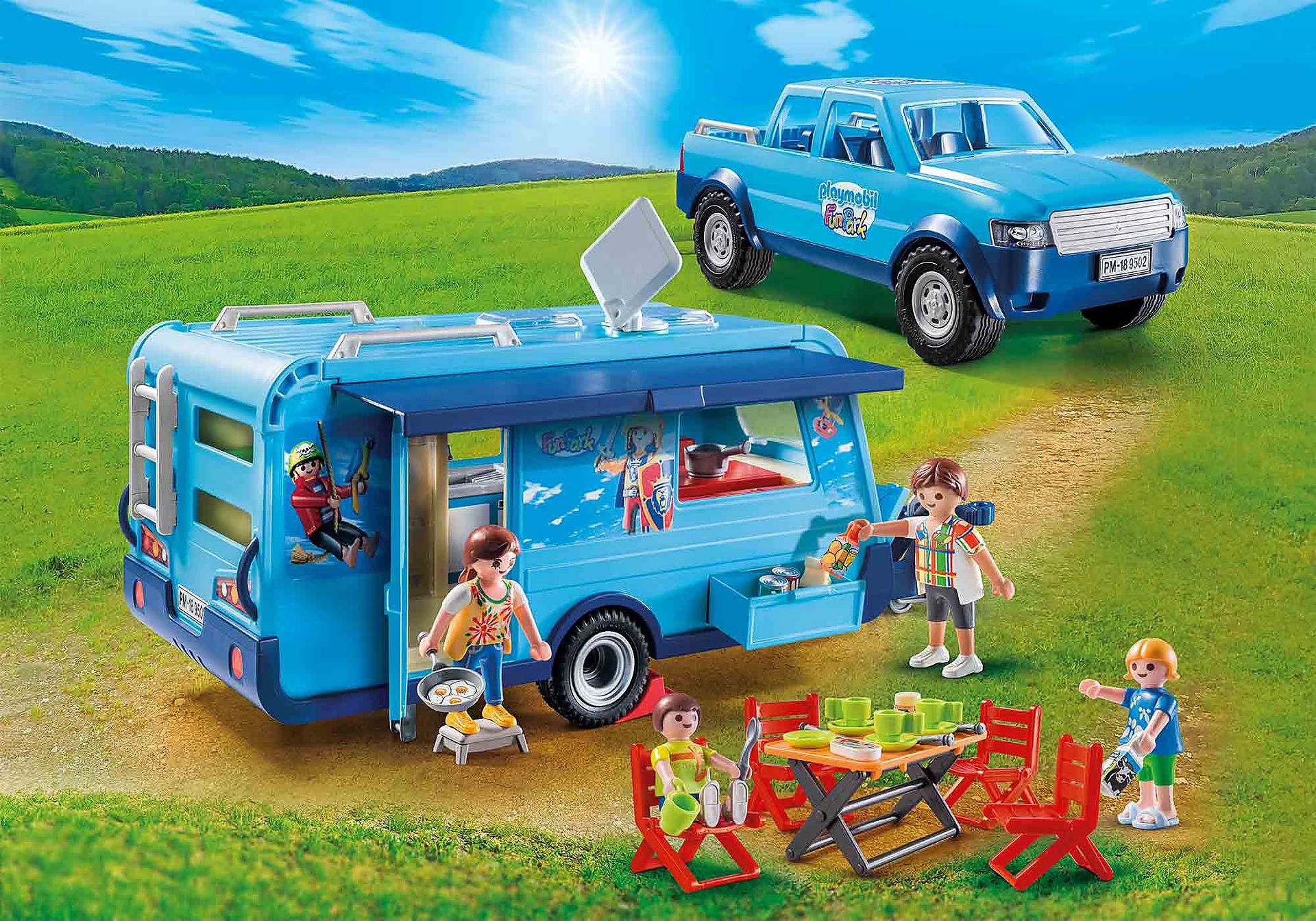 Playmobil 9502 | Playmobil-Pick-Up mit Wohnwagen