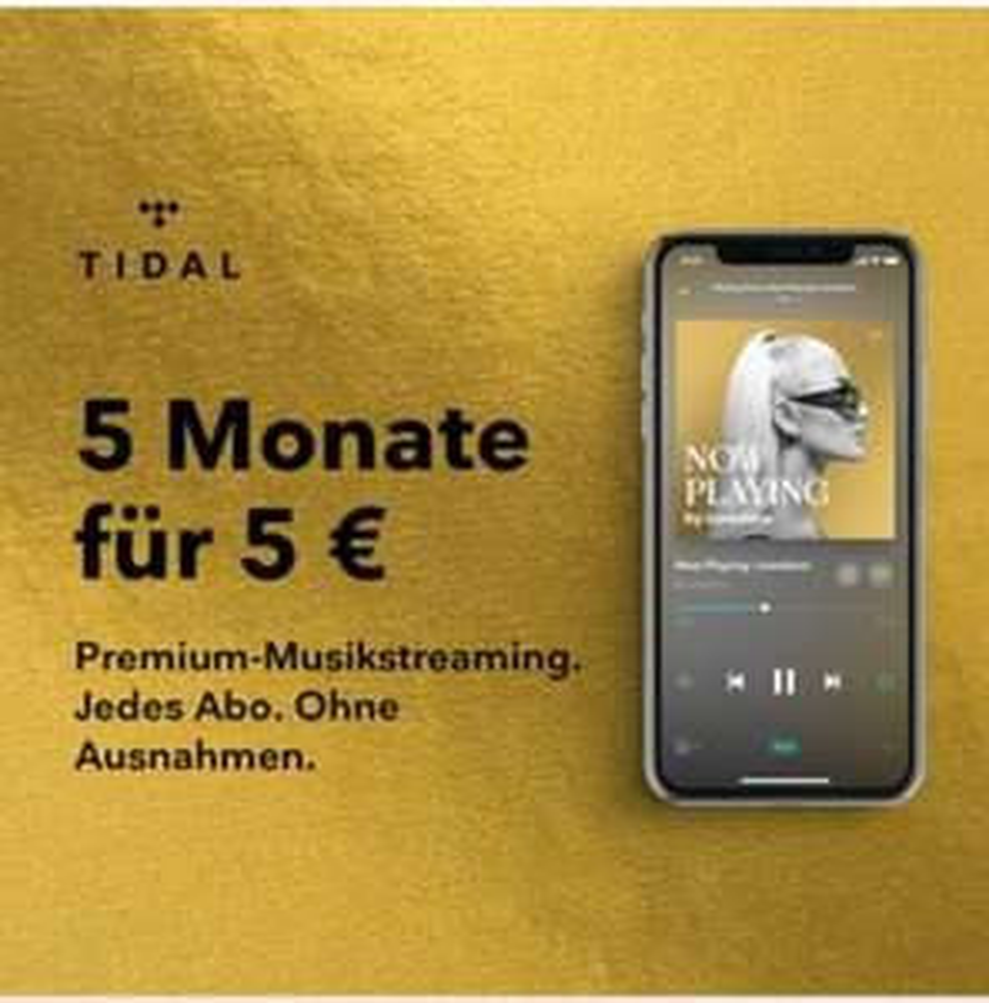 TIDAL Premium-Musikstreaming 5 Monate für 5€ (HiFi)