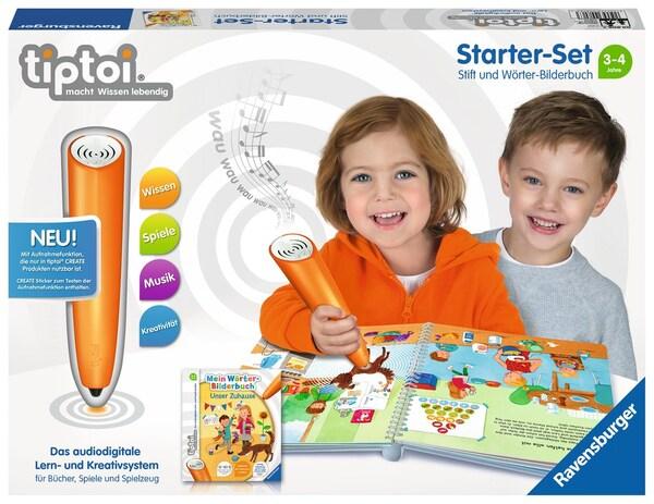 Ravensburger tiptoi® Starter Set, Stift und Wörter Bilderbuch