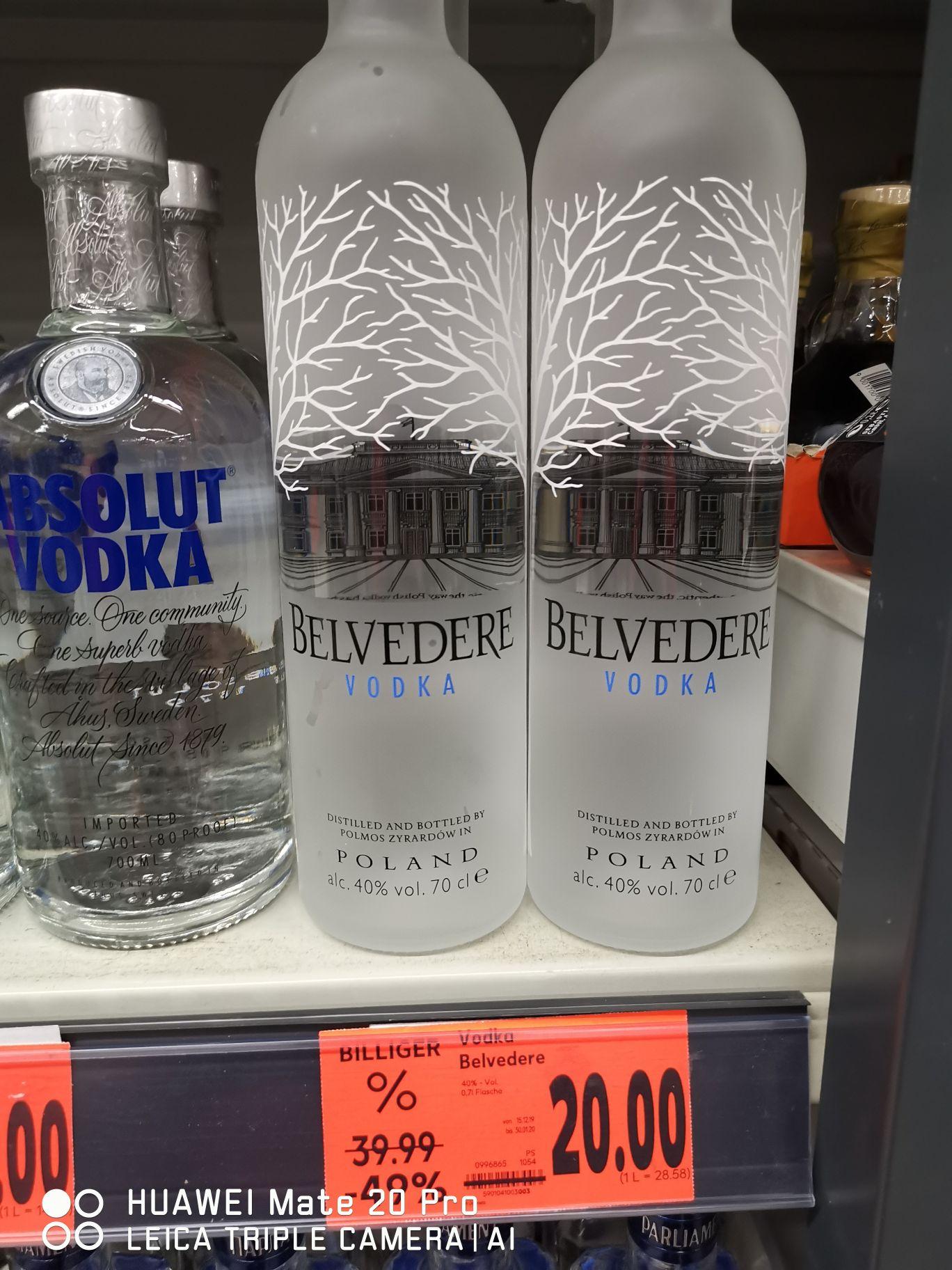 [Kaufland Brehna] Vodka Belvedere 0,7 L (Lokal) UVP - 50%