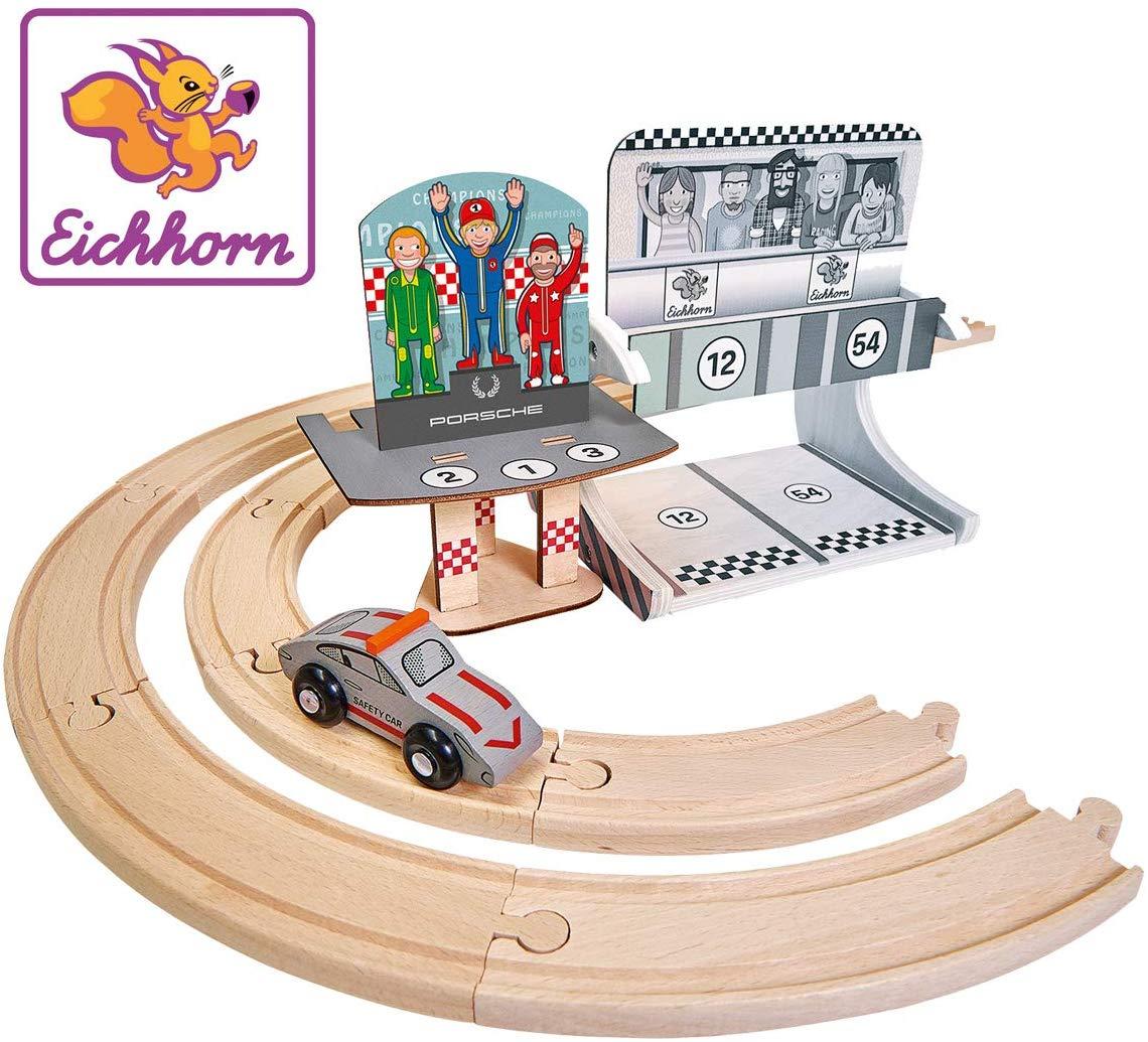 [Amazon Prime] Eichhorn 109475860 - Porsche Racing - Erweiterungsset, 14-tlg., FSC 100% Zertifiziertes Buchenholz, ab 3 Jahren