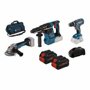 Bosch 18V Geräte Set (GSR 18V-28, GBH 18V-26, GWS18V-10C) + 2 Procore Akku's