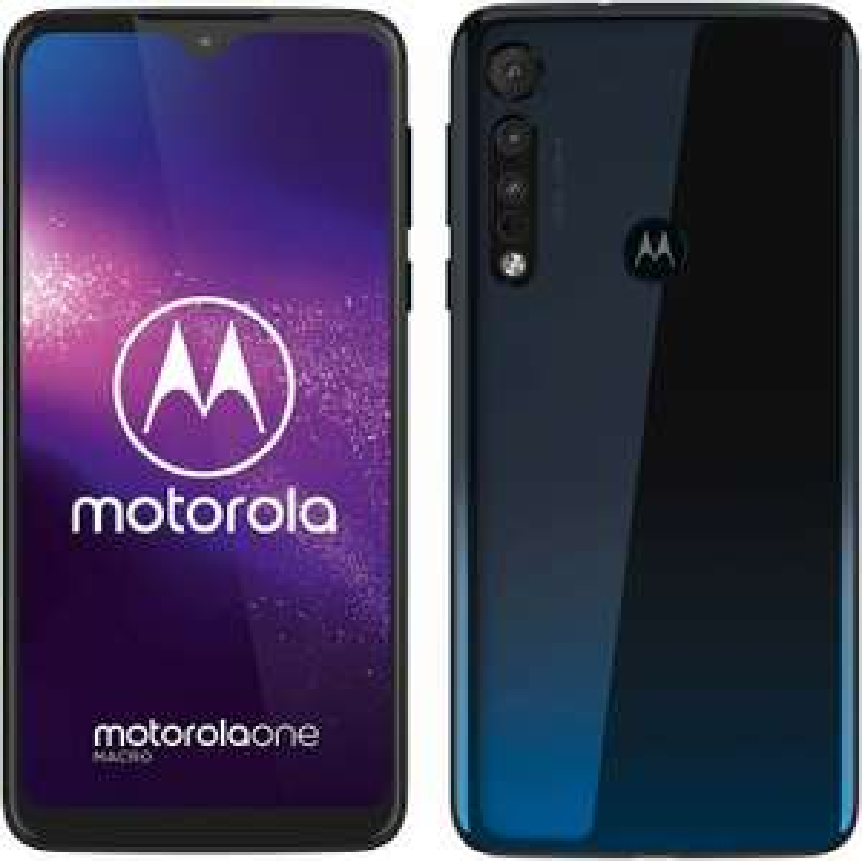 "Motorola One Macro LTE Dual-Sim Smartphone 4/64GB (6,2"" IPS HD+ Display, Macro-Vision-Triple-Kamera, 4.000 mAh, Fingerabdrucksensor, USB-C)"