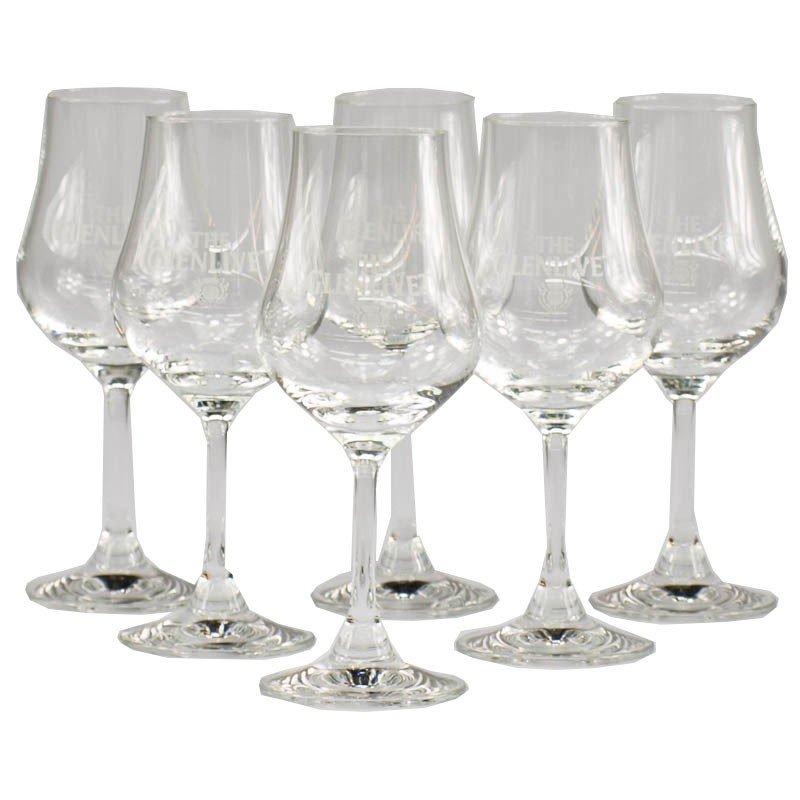 Whisky/Whiskey Nosing/Tasting Gläser 6St Glenlivet (Tulpenform) 9,99+VSK (Verimi Zahlung: 20% und VSK frei)